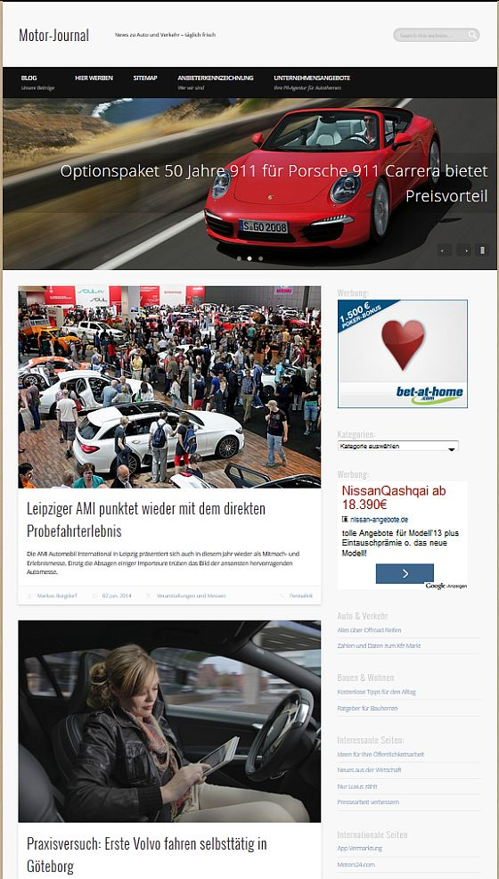Motor-Journal.com Screenshot