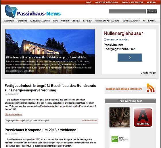 Nachrichten zum Passivhaus auf einer Seite, das ist Passivhaus-News.de