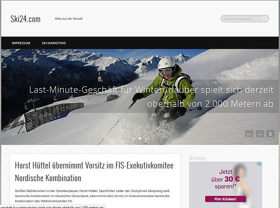Screenshot von Ski24.com