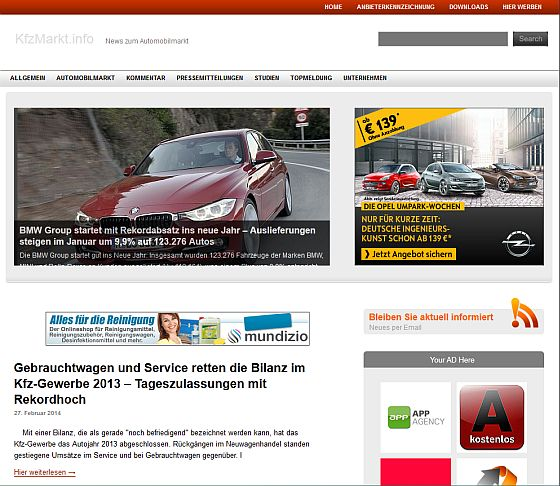 KfzMarkt.info Screenshot
